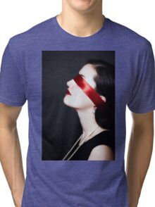 blindfolded Tri-blend T-Shirt
