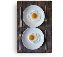 fried eggs Canvas Print