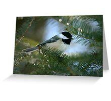 Chickadee Watercolor Greeting Card