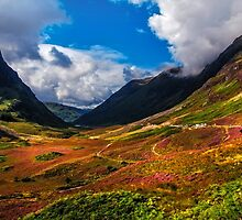The Valley of Three Sisters. Glencoe. Scotland by JennyRainbow