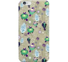 floral pattern with birds iPhone Case/Skin