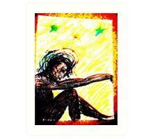 Black Doll, original version, Rose Loya Art Print