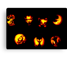Seven Jack-O-Lanterns Canvas Print