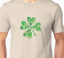lucky four-leaf clover, green shamrock  Unisex T-Shirt