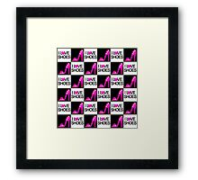 CHIC AND TRENDY I LOVE SHOES DESIGN Framed Print