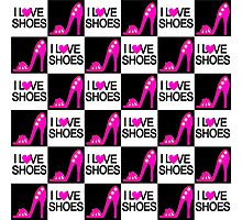 CHIC AND TRENDY I LOVE SHOES DESIGN Photographic Print