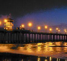 "Surf City Lights II by Lenora ""Slinky"" Regan"