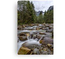 Austria: Hiking in the rain Canvas Print