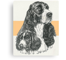 English Springer Spaniel Father & Son Canvas Print