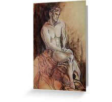 Renaissance Male Nude (Drawing)- Greeting Card