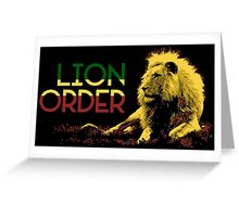 Lion Order Real Lion Greeting Card