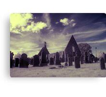 Infrared Kirk, Scotland. Canvas Print