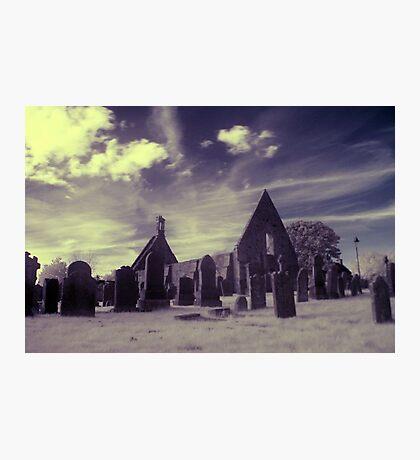 Infrared Kirk, Scotland. Photographic Print