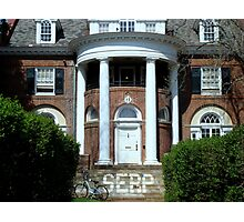 Frat House Photographic Print