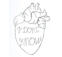 Heart- I don't know Photographic Print