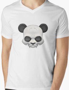 Skull Panda  Mens V-Neck T-Shirt