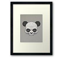 Skull Panda  Framed Print