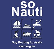 Gay Boating Nauti White Unisex T-Shirt