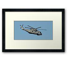 Royal Navy Merlin Helicopter. Framed Print