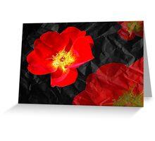 Crumpled Roses Greeting Card