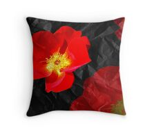 Crumpled Roses Throw Pillow