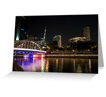 Boat Quay Bridge, Singapore Greeting Card