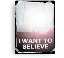 I want to believe light b Canvas Print