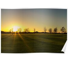Sunset in the Phoenix Park, Dublin Poster