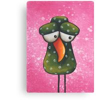 The green bird Canvas Print