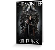 The Winter of Punk Greeting Card