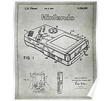Game Boy Original Patent Poster