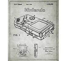 Game Boy Original Patent Photographic Print