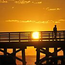 Sun, Water, Pier. by HEIDI  HORVATH