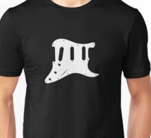 White Guitar Pickguard Unisex T-Shirt