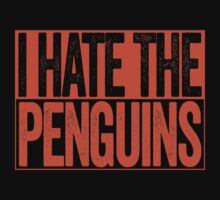 I Hate The Penguins - Philadelphia Flyers T-Shirt - Show Your Team Spirit - Orange Box Design - Haters Gonna Hate by BeefShirts