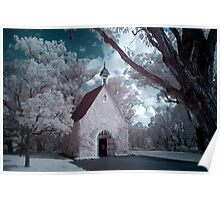 Infrared Church Poster