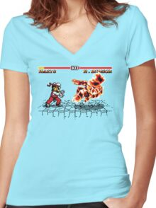 Super Smash Fighter Women's Fitted V-Neck T-Shirt
