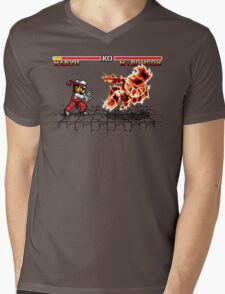 Super Smash Fighter Mens V-Neck T-Shirt