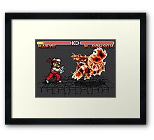 Super Smash Fighter Framed Print