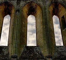 Byland Abbey - Windows by PaulBradley