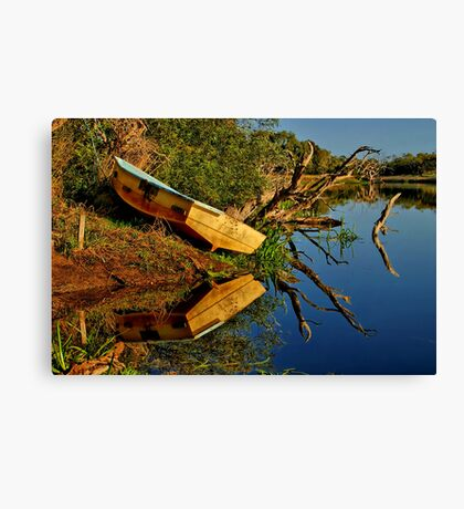 """Creekside Reflections"" Canvas Print"