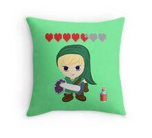 Zelda Valentines: You Fill my Heart Containers Throw Pillow