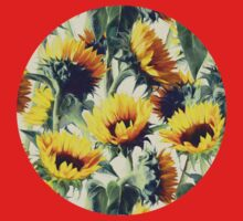 Sunflowers Forever One Piece - Short Sleeve