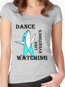 super bowl left shark Women's Fitted Scoop T-Shirt