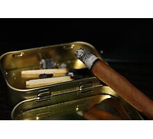 Cigar smoking Photographic Print