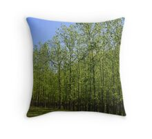 Army Of Poplars Throw Pillow
