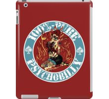Psychobilly Girl - blue iPad Case/Skin