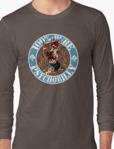 Psychobilly Girl - blue Long Sleeve T-Shirt