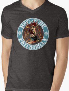 Psychobilly Girl - blue Mens V-Neck T-Shirt