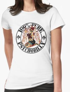 Psychobilly Girl - white Womens Fitted T-Shirt